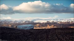 Iceland, landscape, photography, nature, travel, Images Beyond Words, mountainview, clouds, mountains, crashed airplane, sight, navy, hills, sand, sunset, Serge Daniel Knapp, art