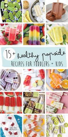 15+ Healthy Popsicles for Toddlers + Kids