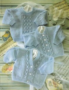 This is a Pdf knitting pattern for a baby cardigan and jumper set with cable design To fit 0 - 2 years Chest 16 - 22 inch Worked in Snuggly DK Baby Knitting Patterns, Baby Cardigan Knitting Pattern Free, Crochet Baby Jacket, Knitted Baby Cardigan, Baby Patterns, Knitting Yarn, Cable Cardigan, Free Knitting, Sweater Patterns