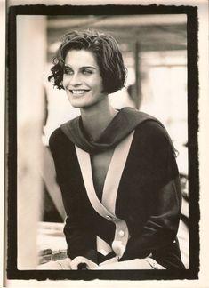 Photos PETER LINDBERGH  Vogue UK - Letter form Luxor - Vanessa Duve - May 1989