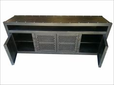 The modern Industrial Media Console with Component Niche #003L by Industrial Evolution Furniture incorporates minimalist styling and sleek modern design with an industrial-chic look. Our media console is individually crafted and customizable, providing modern function with the look of
