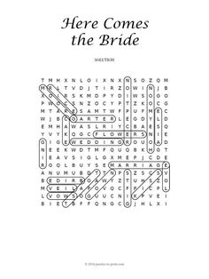 Celebrate Love Marriage And The Bride To Be With Our Wedding Word Search Perfect For A Fun Little At Bridal Shower Party