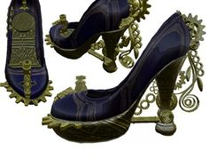 Steampunk shoes...these are by far the most gorgeous I've ever seen.