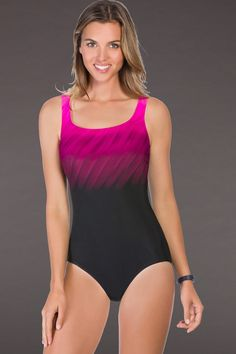 c86f20b301a4d Chlorine Resistant Reebok Pink Wind Blown One Piece Swimsuit Swimwear  Brands, Designer Swimwear, Swim