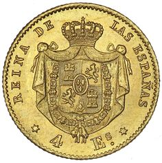Isabella 1867 gold coin.
