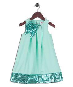 Look at this #zulilyfind! Cabbage Stretch Glitter Bow Dress - Infant, Toddler & Girls by Joe-Ella #zulilyfinds