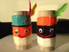 Pietjes van geweven wc rolletjes. Creative Teaching, Creative Art, Projects To Try, December, Scouting, Cute, Crafts, Ideas, Decor