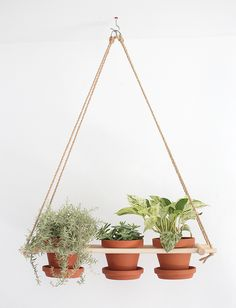 This #DIY wood hanging #planter is the perfect project for those with a green thumb and will make a great spot to show off your plants!