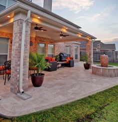 Outdoor Kitchen Patio, Outdoor Patio Designs, Patio Ideas, Yard Ideas, Backyard Covered Patios, Covered Patio Design, Backyard Pavilion, Patio Makeover, Pergola