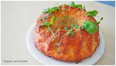 Timpin keittiössä: Joulukalenteri 2015 luukku 10: Parmesaanikakku Salmon Burgers, Ethnic Recipes, Food, Essen, Meals, Yemek, Eten