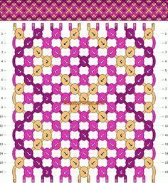 Normal Friendship Bracelet Pattern #9980 - BraceletBook.com