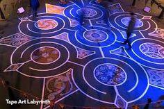 Winter Labyrinth - art labyrinth by Struan Ashby, Palmerston North, NZ. Tape Art, Street Art, Winter, Winter Time, Winter Fashion