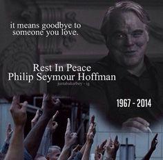 "RIP Philip Seymour Hoffman aka ""Plutarch Heavensbee"".  <3"