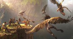 Ilustradores españoles de juegos. #Harpy #Fantasy
