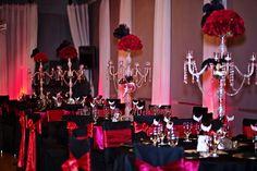 Phantom of the opera theme wedding decor exclusively from The Crystal Ballroom decorations!!  Photography by: Captiva Photography #weddingvenue #decor #receptionhall #weddingdecoration  #banquethallorlando #weddingvenueorlando #themeweddings