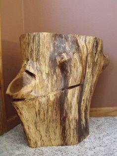 Stump Table   Oak Table   Tree Stump Table   Live Edge Stump Table Oak Table