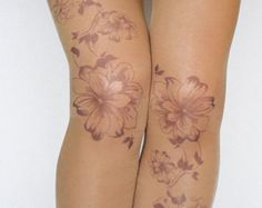 """Transparent Pantyhose,Butterfly Tights,Leggings.  Beautiful tights with butterflies.The print on the front. Now your legs can be covered in """"tattoos"""" without having any regrets:)  These are printed to order ,tights are hand printed so they can be slightly different one from another . Every pair is special and unique. Pantyhose are transparent. Real color of tights could be a little bit different from stock photos due to screen reflection and different light. Take in mind that the print…"""