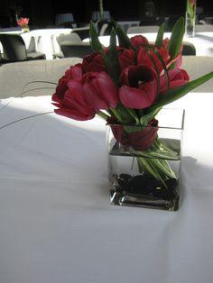 short tulip centerpiece