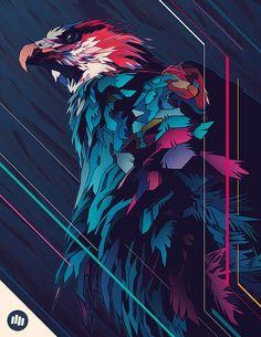 Wallpaper Iphone Art Graphics Illustrations Ideas For 2019 Digital Illustration, Graphic Illustration, Graphic Art, Illustrations, Art Pop, Sketch Manga, Eagle Art, Grafik Design, Amazing Art