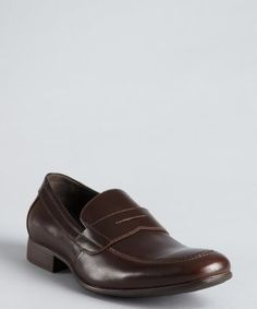 Penny loafers dark brown