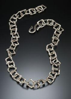 Metal clay chain made by dona Di Carlo.