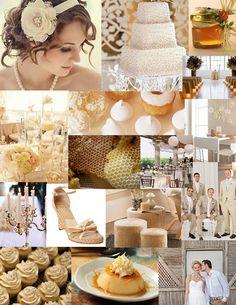Color Day: Au Naturel – Milk and Honey | The SweetNest  #TheSweetNest #milkandhoney #whiteandyellow #weddingcolors #weddinginspiration