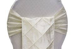 $0.95  (reg. $1.79) Pintuck Chair Sash - Ivory (Deal of the Week. Ends 9/27/2013) www.cvlinens.com #wedding #ivory #pintuck