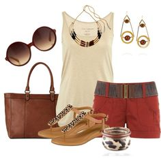 A fashion look from June 2013 featuring Fine Collection tops, Russet shorts and Cole Haan sandals. Browse and shop related looks.
