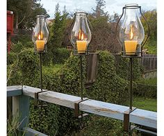 Amazon.com : Napa Style Glass Hurricanes : Hurricane Candle Holders : Patio, Lawn & Garden