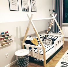 Girls Bedroom Furniture, Baby Bedroom, Baby Room Decor, Kids Bedroom, Kid Furniture, Furniture Design, Toddler Rooms, Toddler Bed, Teepee Bed