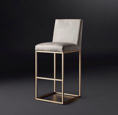 modern leather and gold counterstools #LGLimitlessDesign & #Contest