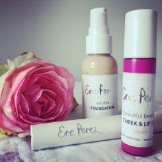 Ere Perez Oat Milk Foundation, Cheek and Lip Tint Lovely, Volumising Waterproof Mascara Black