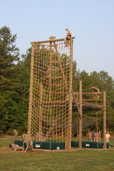 """Military personnel navigate obstacle course on Air Assault """"Zero Day"""" by Virginia Guard Public Affairs, via Flickr"""