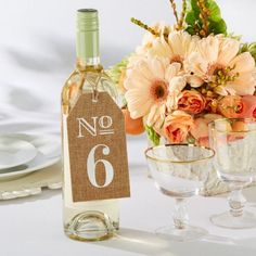 Burlap table numbers are perfect for a rustic or country wedding.