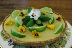 Raw lime and avocado tart for paleo wedding. Gluten free, dairy free and cane sugar free. Yum!