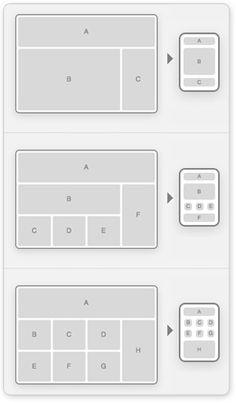 responsive layout (blocks of gray)