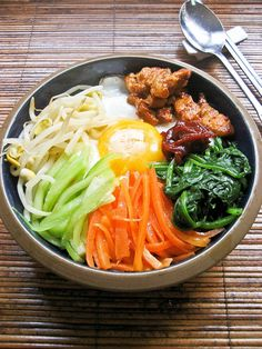 BIBIMBAP RECIPE Please like share repin Thanks! :)