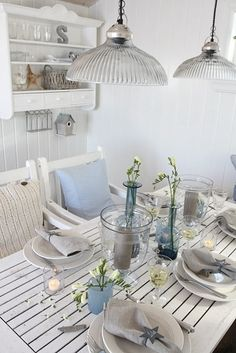 Table-perfect for beach feel outdoor setting