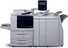 Refurbished Xerox D110 Monochrome Digital Production Printer - up to 110 ppm, Copy, Print, Scan, Integrated Fiery, Stapler Finisher, Hole Punch. Standard Functions: Copy, Print, B/W & Color Scan, Standard Finisher with 2-3 Hole Punch. Rated Speed: Up to 110 ppm (A4). Maximum Duty Cycle: 2,000,000 pages / month. Paper Input Capacity (std. / max.): 4,050 sheets / 8,050 sheets. This product is refurbished by our certified technicians. Shows limited or no wear, and includes minimum 50%...