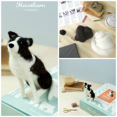 Learn how to needle felt this loyal Border Collie using British felting wool. Follow the step by step photo instructions and use the included felting needles to stab the wool to life. Photo Credit: Holly Booth £17.45