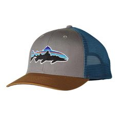 Patagonia Fitz Roy Trout Trucker Hat - Feather Grey FEA