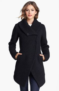 Dawn Levy 'Adelaide' Bouclé Coat | Nordstrom Price ($698) is out of my league; available in camel for $499 from RueLaLa as of 9.20.13. Love the silhouette. A bouclé and a Persian lamb, oh, and while we are at it, why not a black on black shearling to replace my beloved post-college coat, are all on my coat bucket list. Too bad I now live where there is a very short/warm winter and a wrap or light jacket will suffice 90% of the time!