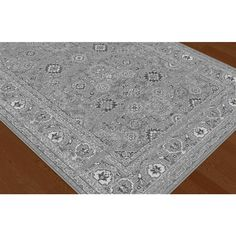 Infinity Silver 7 Ft 10 In X 3 Transitional Area Rug Living Room RugsHome DepotInfinity