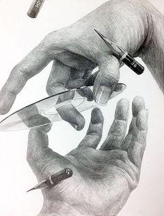 Dark Drawings, Pencil Drawings, Hyper Realistic Paintings, Still Life Drawing, Hand Sketch, Anatomy Drawing, Hand Art, Art Sketchbook, Figure Drawing