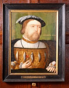 King Henry VIII (1491–1547) British (English) School National Trust Inventory Number 1129178 Category Paintings Date circa 1535 Materials Oil on panel Measurements 510 x 380 mm @ Hardwick Hall, Derbyshire