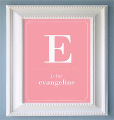 Nursery or Childrens Room Personalized Print with your childs Initial. $8.00, via Etsy.