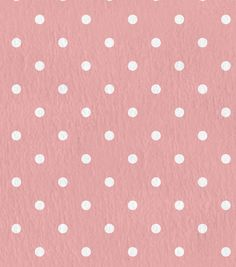"""Nursery Flannel Fabric 43"""" - Swiss Dots Coral Blossom"""