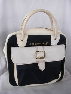 Air Canada Vintage Airline Bag Tote Flight Gear made by Blondy Luggage Co.. $49.99, via Etsy.