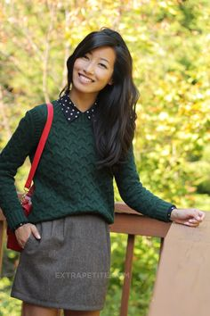 Love this forest green sweater