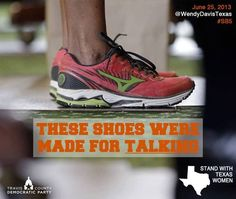 State Senator Wendy Davis did us proud.